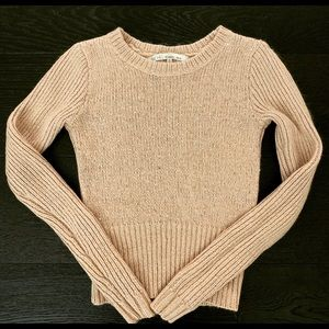 Rachel Roy Pink Fitted Sequin Sweater XS